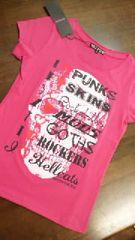新品ヘルキャットパンクス【Tシャツ】pink【S】ピンク