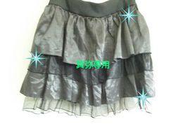 サテン×チュール2段スカート◆ゴスロリ/大きいサイズ即決