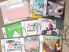 任天堂DS Lite本体(ノーブルピンク)&カセットセット