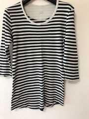 MIXT白黒 7分袖Tシャツ らくらく定額便180