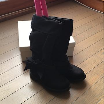 ブーツ 21センチ 黒 送料込み価格!
