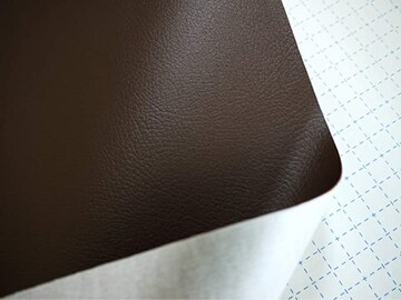 色黒 貼るレザー(シールタイプ)合皮生地(こげ茶)135cm×80cm