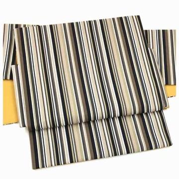 美品 ファブリック 縞 綿 軽装 作り帯 名古屋帯 二部式