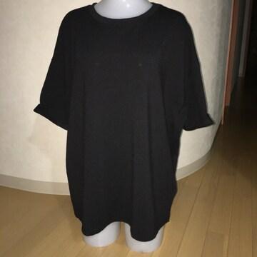 ZARA ビッグTシャツ カットソー  黒 L