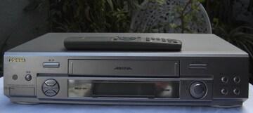 東芝/A-AE21:VHSレコーダ中古完動2001年製リモ付0102