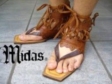 【MIDAS/ミダス】二段階調整可能スナップボタン♪牛革ウェンディーサンダル