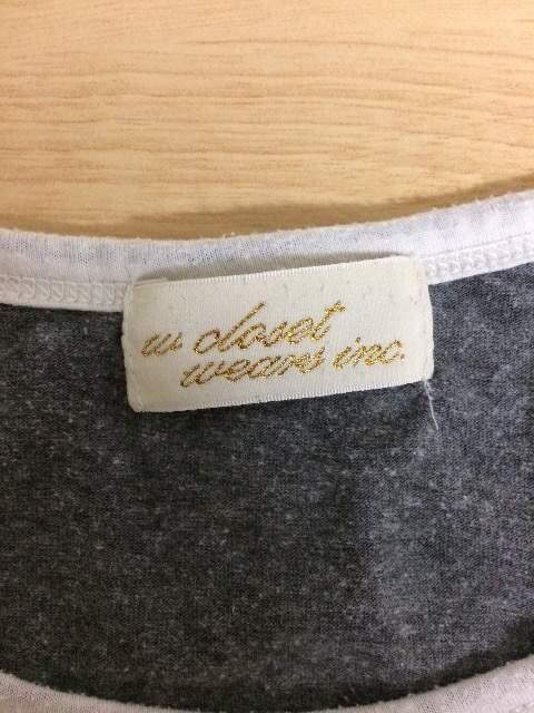 w closet ラグランTシャツ F < ブランドの
