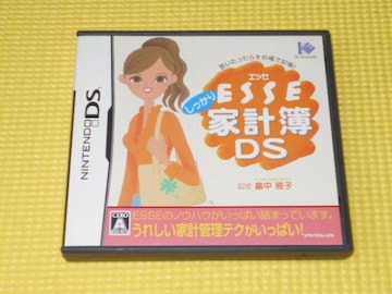 DS★ESSE しっかり家計簿DS★箱付・説明書付・ソフト付