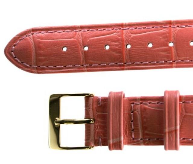コンドル社製牛革バンド 18mm ピンク < 男性アクセサリー/時計の