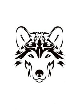 狼 ウルフ オオカミ カッティングステッカー 6