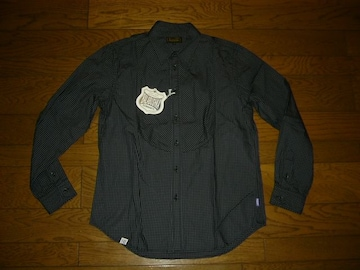 新品BALABUSHKAバラブシュカチェックシャツ3灰薄手グッドイナフ