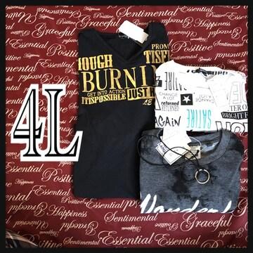 4L・Tシャツ3点セット新品/MCZb-004