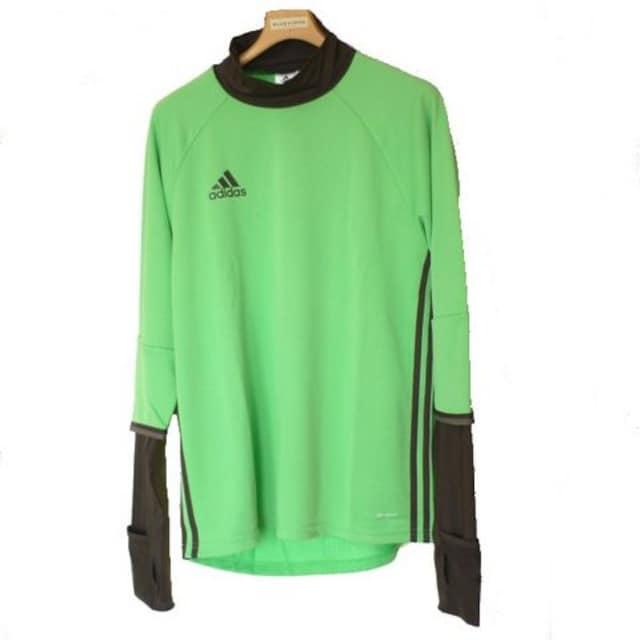 新品◆送料無料◆adidas緑サッカーウォームアップトップス(XO)  < レジャー/スポーツの