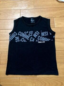 COMME CA ISM☆100cm☆キッズ黒系タンクトップ