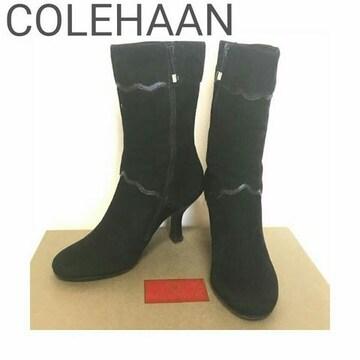 正規 COLE HAAN スウェード レザー ブーティ ブーツ 5B 箱付き