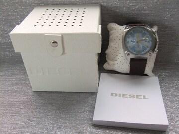 未使用■ディーゼル クオーツ クロノ 腕時計 DZ4340 アイスブルー