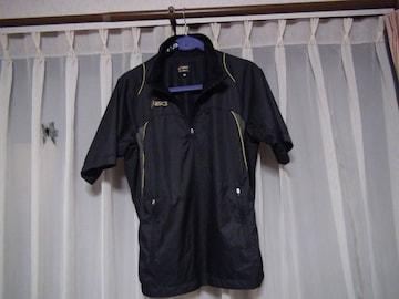 asicsのポロシャツ(M) 黒 !
