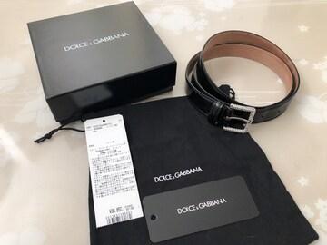 C077 ドルチェ&ガッバーナ D&G 本革 ベルト 箱付き 布袋付き