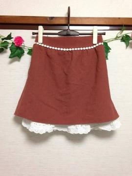 titty&Co★ティティー&コー★オレンジ レース スカート フリー