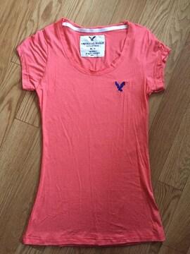 新品アメリカンイーグルサーモンピンクTシャツ半袖レディーストップス