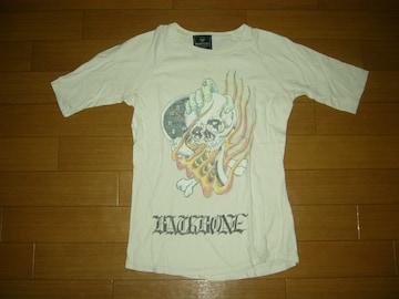 バックボーンBACKBONEカットソー5分丈Tシャツ・スカルロゴ