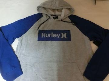 USA購入【HURLEY】プルオーバーパーカーUS M 灰青