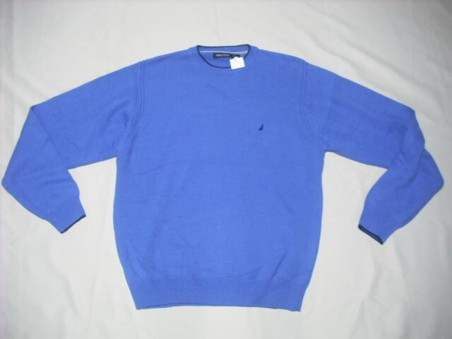 50 男 NAUTICA ノーティカ 青 セーター M  < ブランドの