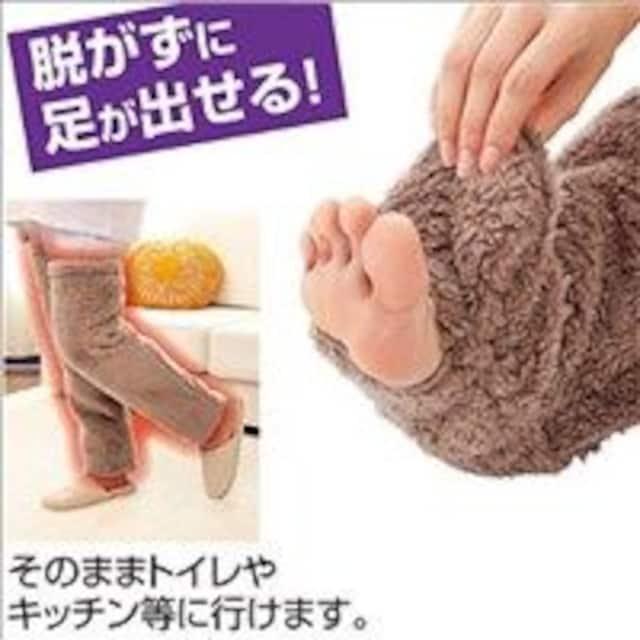 ★保温性抜群★ ロング靴下 レッグウォーマー 足が出せる < 女性ファッションの