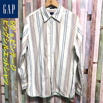 90's OLD GAP ストライプシャツ