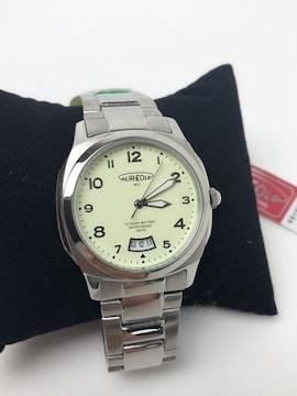 T074 新品★ AUREOLE オレオール メンズ クォーツ 腕時計