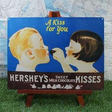 新品【ブリキ看板】Hershey's/ハーシーズ Kisses -2-