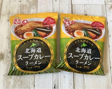 北海道発 藤原製麺 北海道スープカレーラーメン 2袋セット