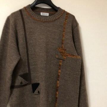 茶けいセーター Lサイズ レターパック520