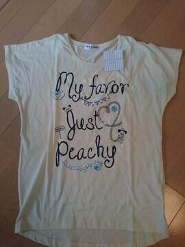 女児半袖Tシャツ♪サイズ160�p!薄黄色イエロー/新品未使用