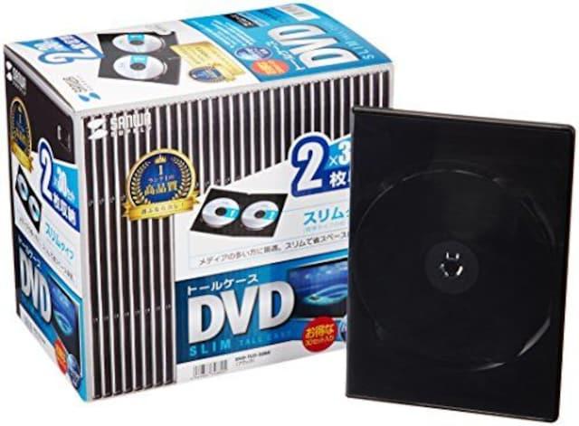 人気急上昇!DVDケース 2枚収納×30枚セット ブラック  < 家電/AVの