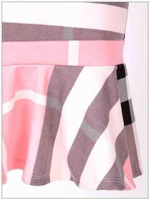 チェック柄ストレートシルエットノースリーブマーメイドドレス < 女性ファッションの