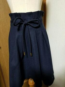 ☆BURBERRY BLUE LABEL☆ウールベルト付きスカート☆