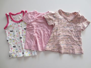 半袖Tシャツ/タンクトップ/女の子/ピンク/まとめ売り/60-70-80