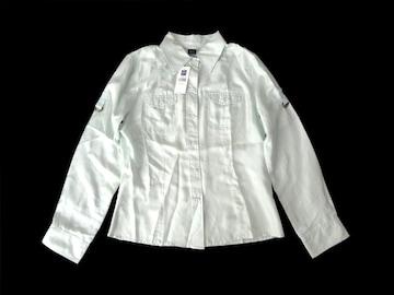 新品 定価6900円 GAP ギャップ 絹 シルク シャツ ブラウス