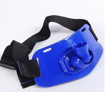 ファイティングベルト新品ブルー 長さ調節可能 EVA吸収