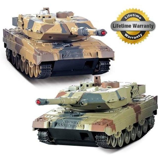戦車 2パック、2セットリモートコントロール2.4G  < ホビーの