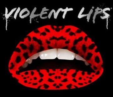 2g7)ViolentLipsバイオレントリップス赤レオパード豹柄B系唇セレブコスメメイクステージ