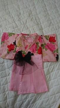 キ2・難アリ 送込 新品☆ハンドメイド お宮参り 羽織袴風ドレス