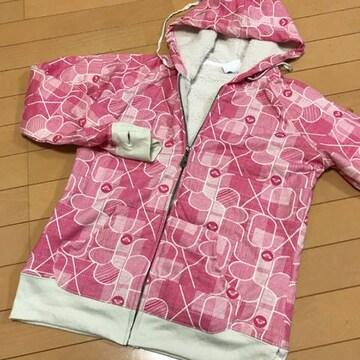 新品◆ロキシーROXY◆内ボア ジップアップパーカー L ピンク