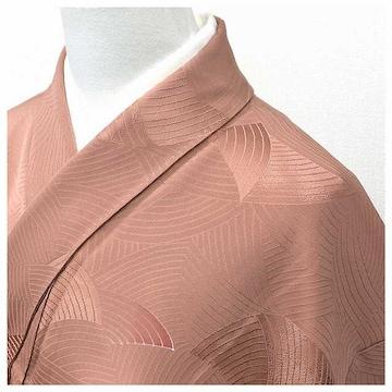 極上 特選 色無地 一つ紋入り ピンク 身丈152 裄63.5
