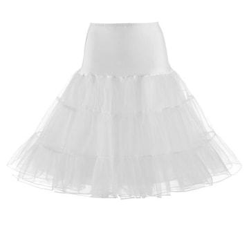新品[7801]S【W60-64cm】白レースパニエ(アンダースカート)ペチコート