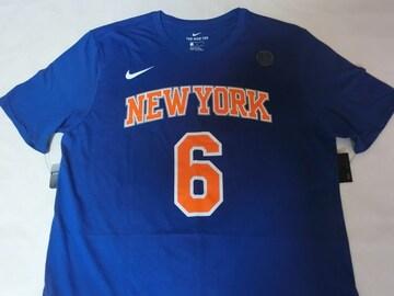 Nike製【DRI FIT】NY KNICKS ポルジンギス ナンバーTシャツUS L