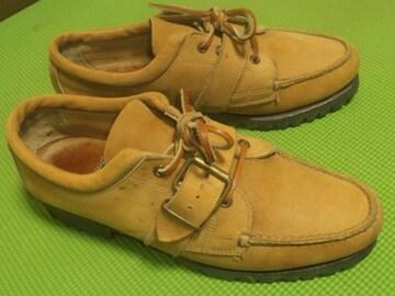 ¶POLO[ポロカントリー・ラルフローレン]★モカシンシューズ革靴25.5~26cm相当/送\400~