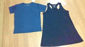 HEARTMARKET ハートマーケット 2点セット ロングタンクワンピース紺 クルーネック半袖Tシャツ