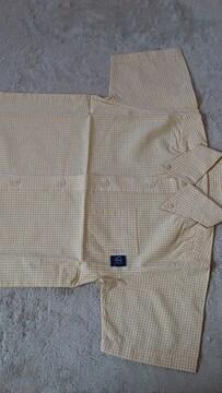 *新品☆110�p・フェリシモ 半袖黄色チェックのシャツ*